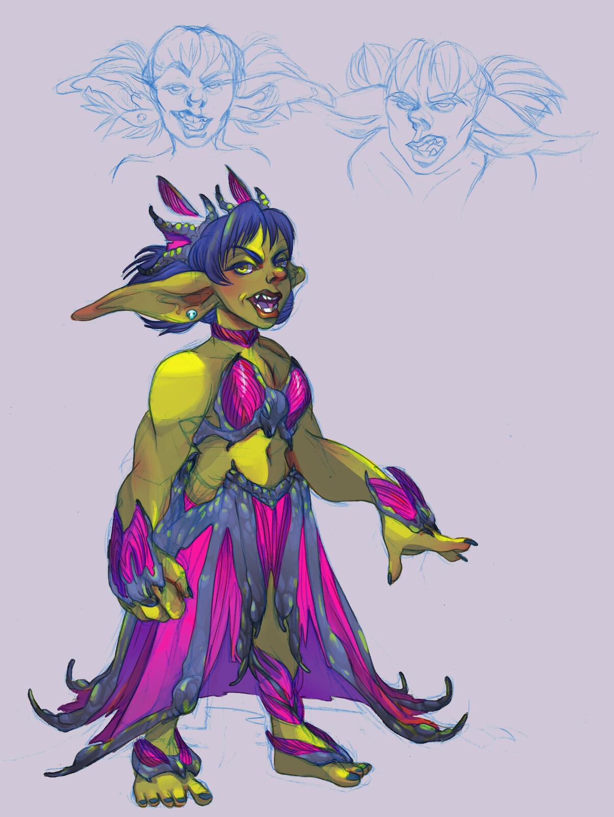 studies: Muuscatelle the Goblin Mage