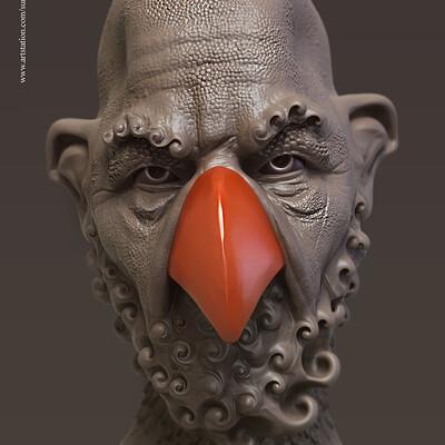 Surajit sen birdman concept digital sculpture surajitsen may2019