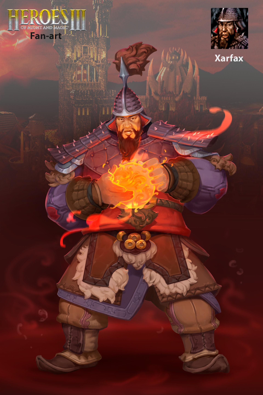 5b0a2dbd ArtStation - Xarfax. The Inferno army hero, Denis Rootski