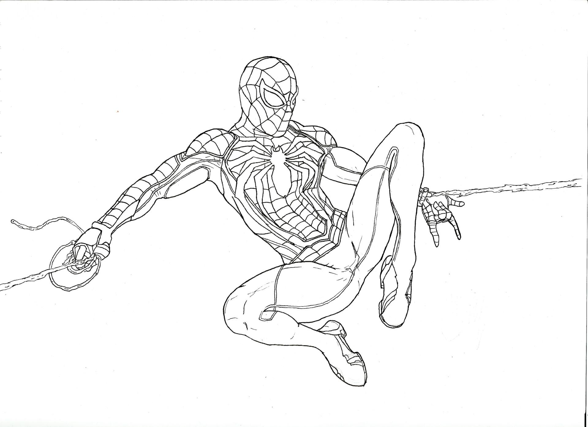 Artstation Marvels Spiderman João Pedro Calheiros