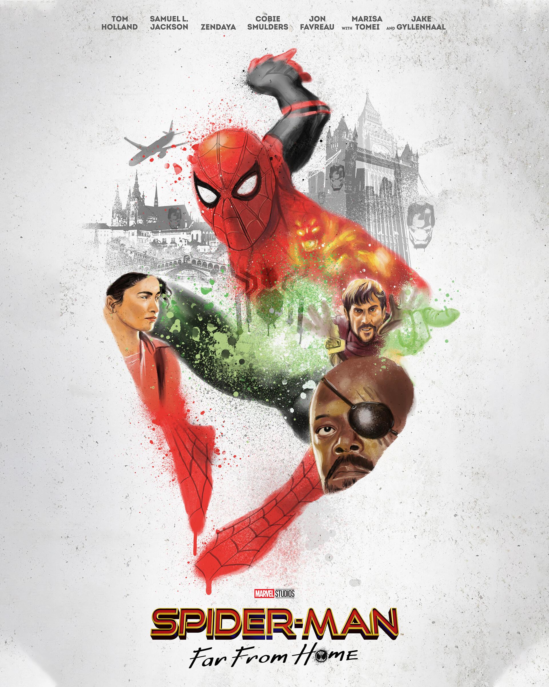 Artstation Alternative Movie Poster Spider Man Far From