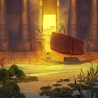 Nele diel egyptian city gate