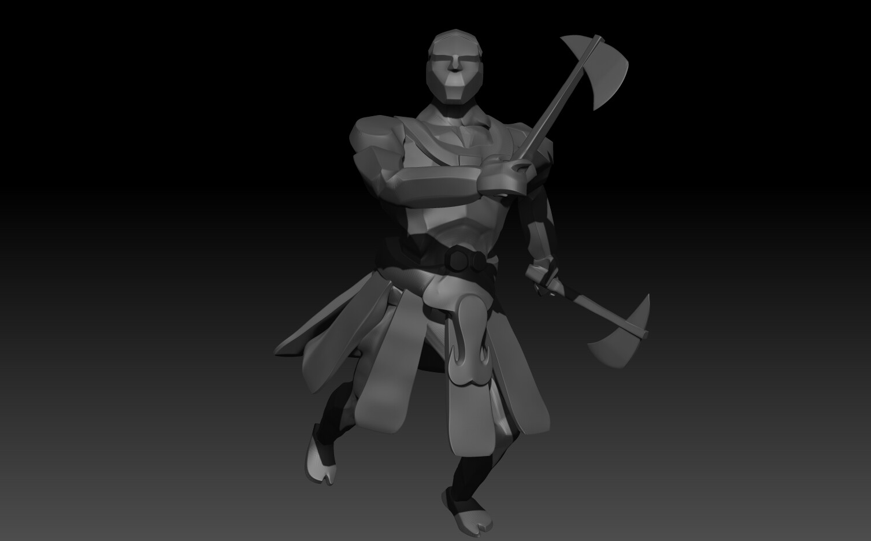 Warrior Zbrush Render