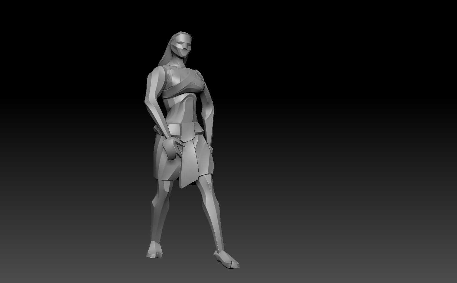 Brave-Female Zbrush Render
