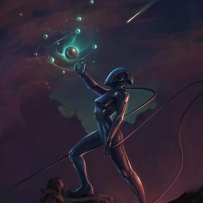 Eva kosmos lunara dron