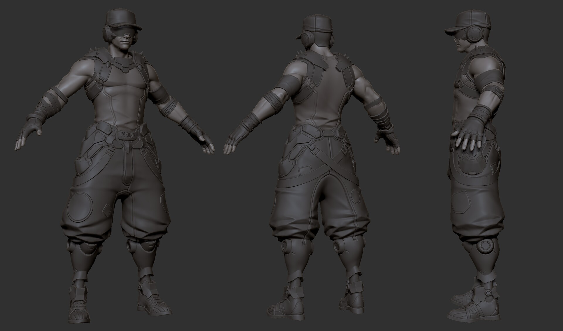 early zbrush sculpt