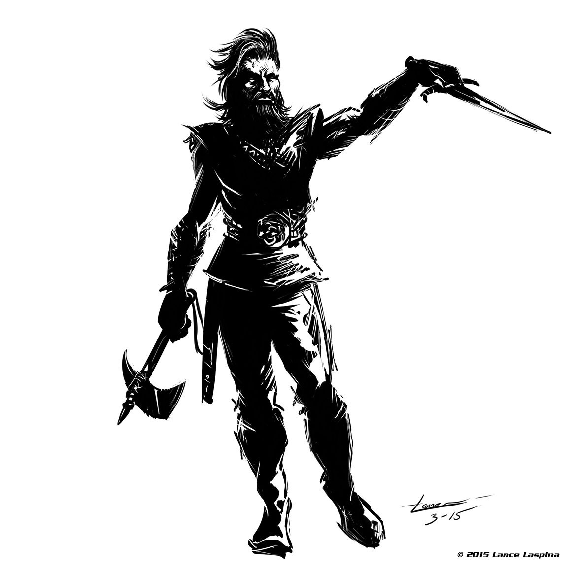 Lance laspina vikingwithdagger