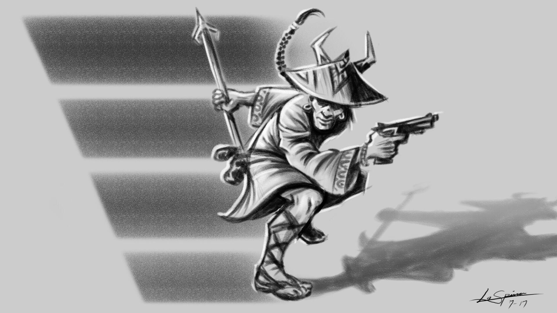 Lance laspina samuraiguntoter
