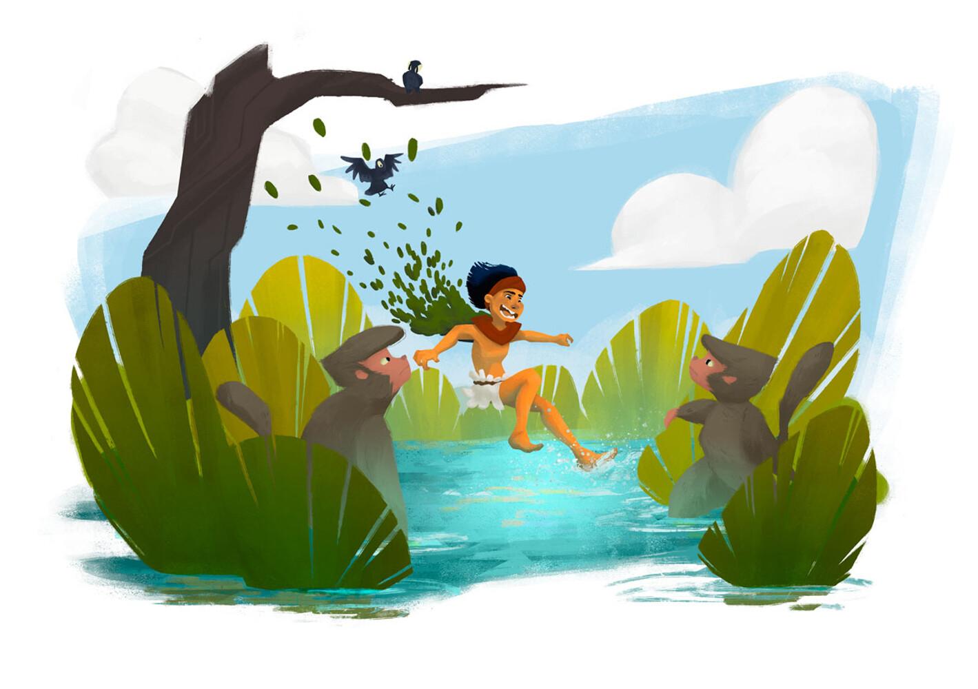 Mowgli's Bath