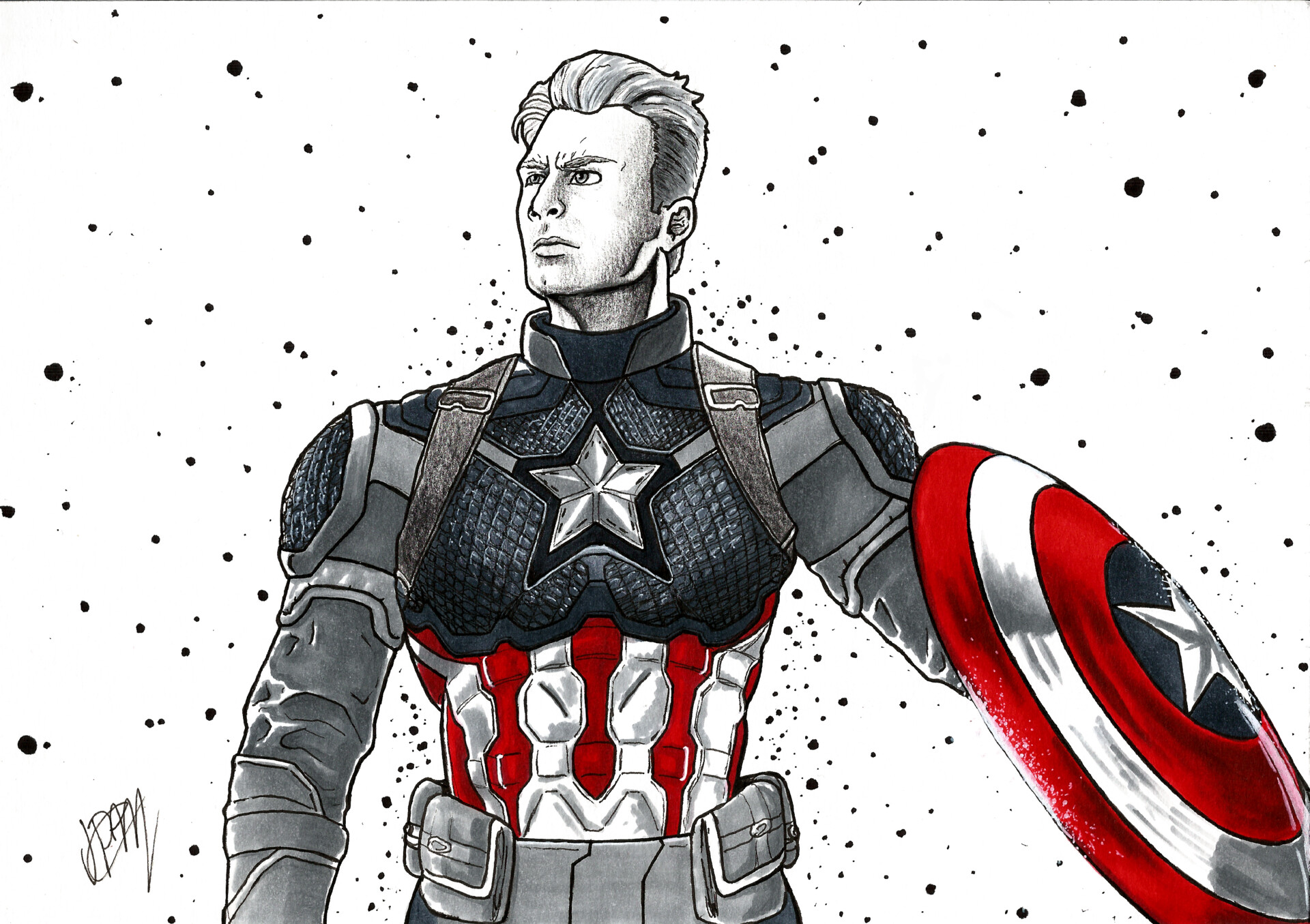 Artstation Capitao America Vingadores Ultimato Capitain