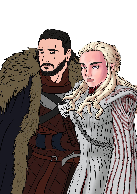 Artstation Jon And Daenerys Game Of Thrones Joao Pedro