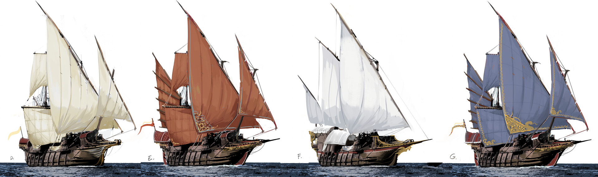 Efflam mercier galleon rigging iterations v003