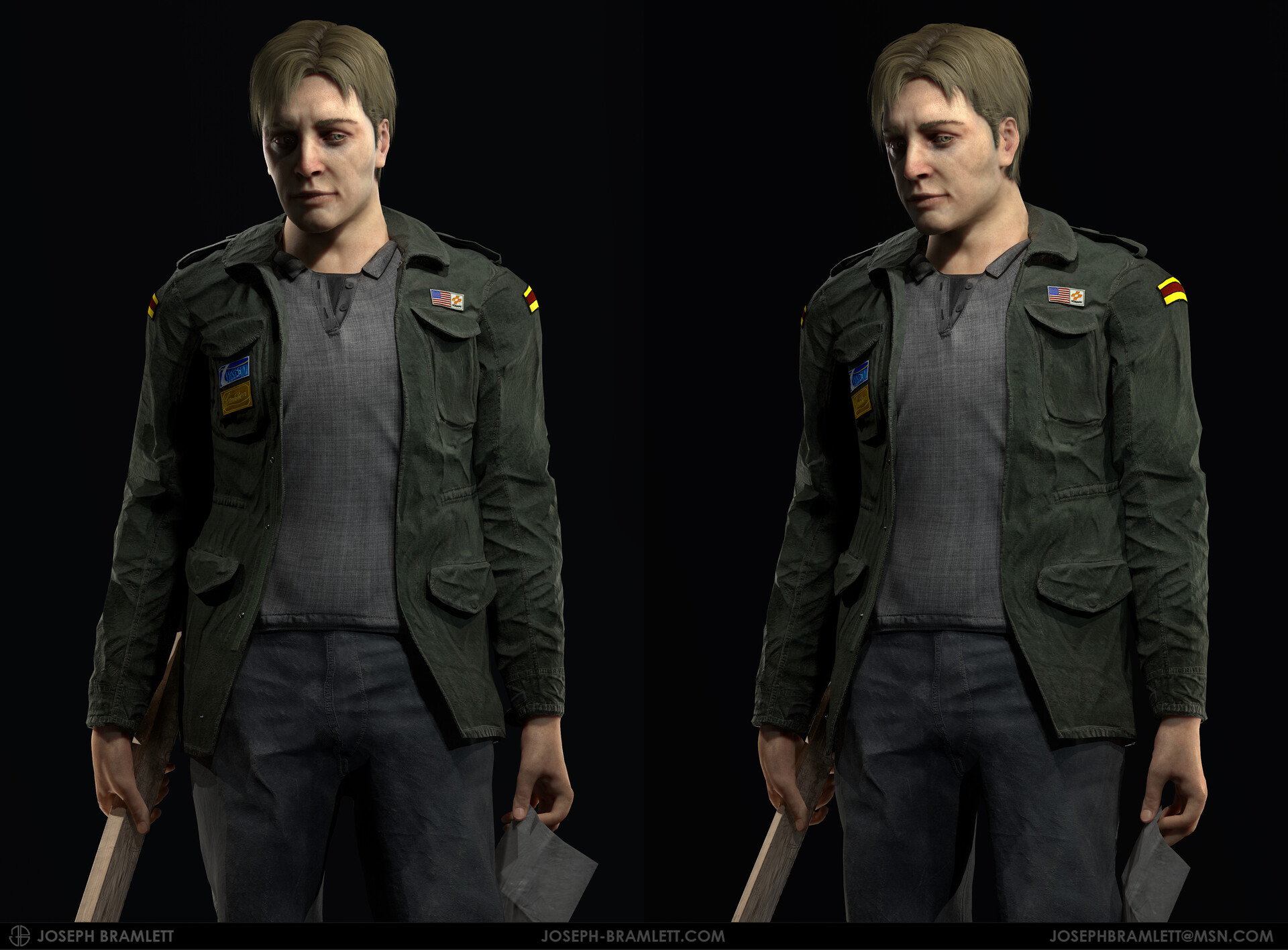 Artstation James Sunderland Silent Hill 2 Fan Art Joseph