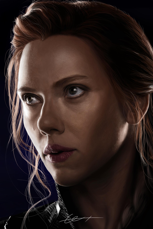Artstation Digital Painting Black Widow Scarlett