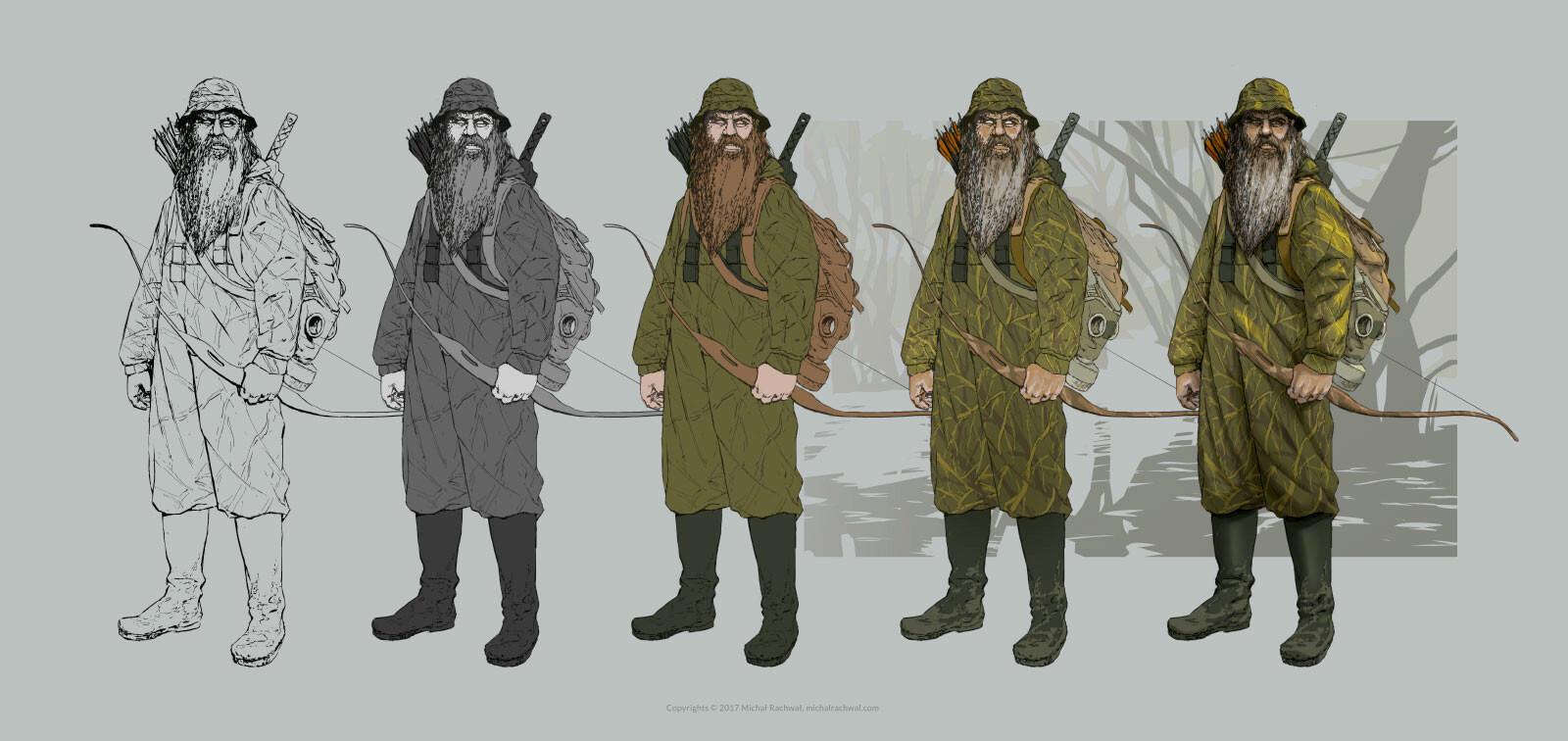 Michal rachwal michal rachwal hunter values and palette pose1wip