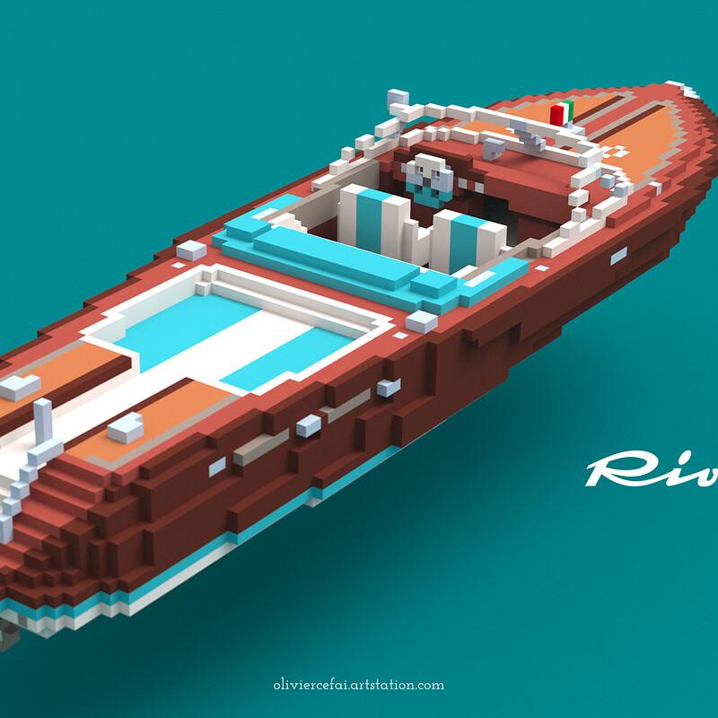 Riva Aquarama Voxel Modeling