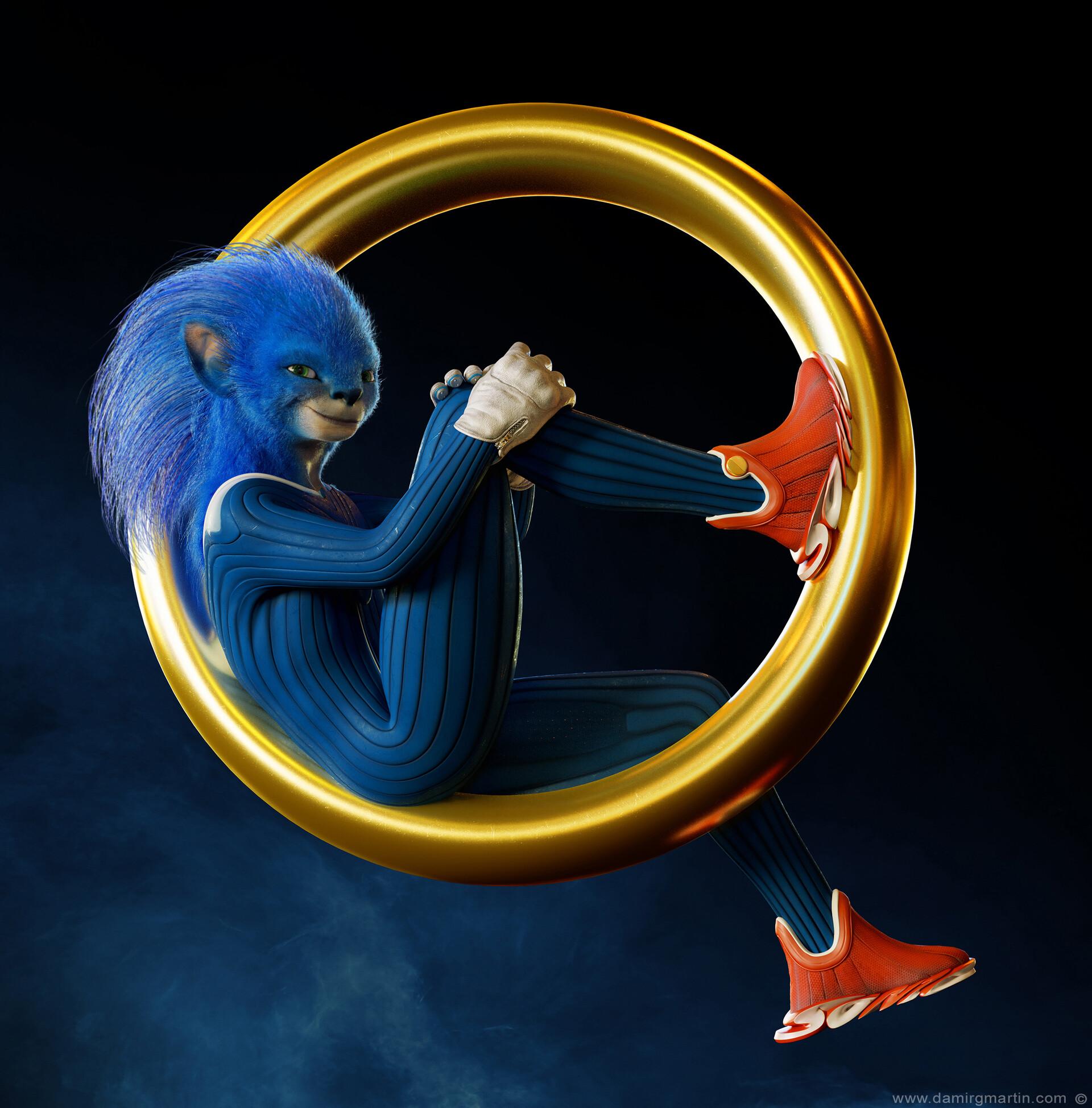 Artstation Realistic Sonic Movie Character Design Attempt Damir G Martin