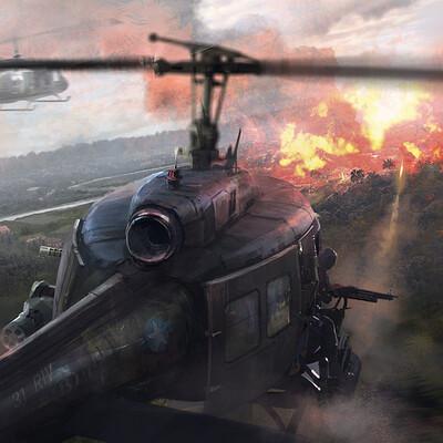 Min nguen skyfall helicopter min