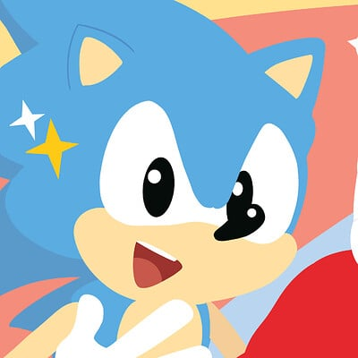 Captain ray sonic print small