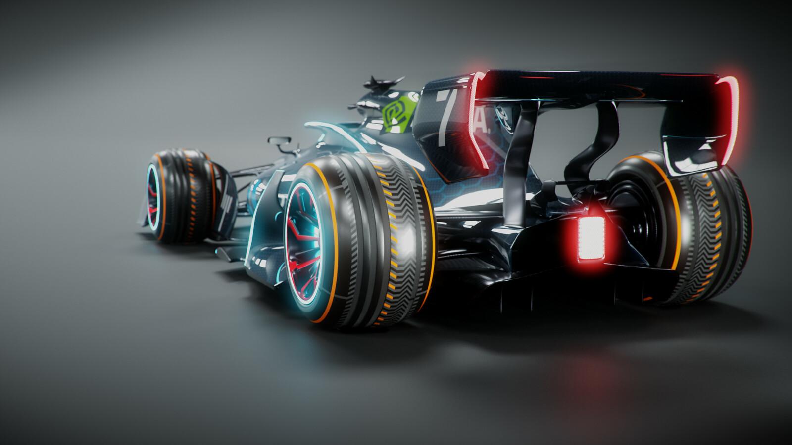 Futuristic F1 (LuxCoreRender)
