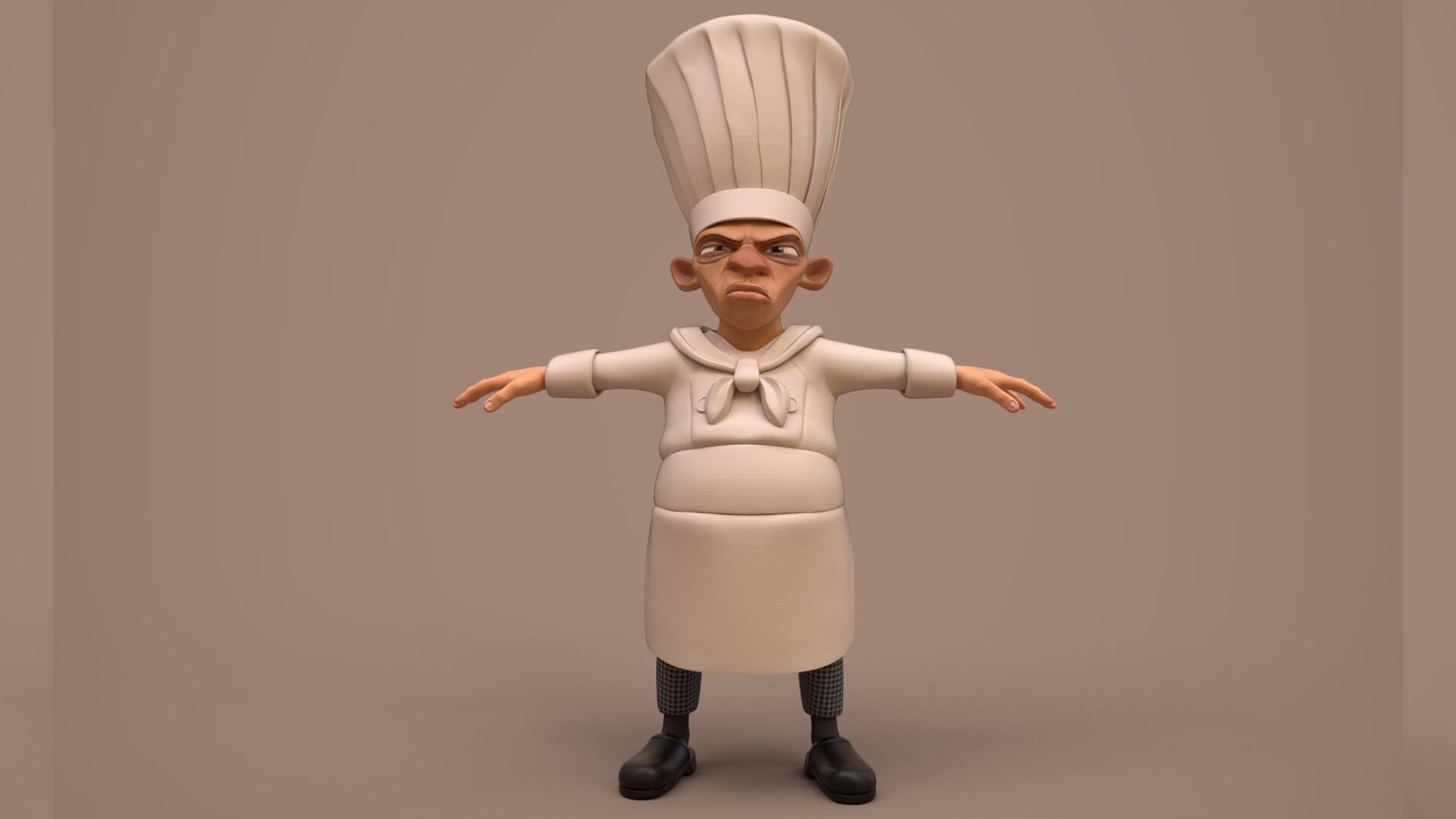 Artstation Chef Skinner Stefan William Rudebjer
