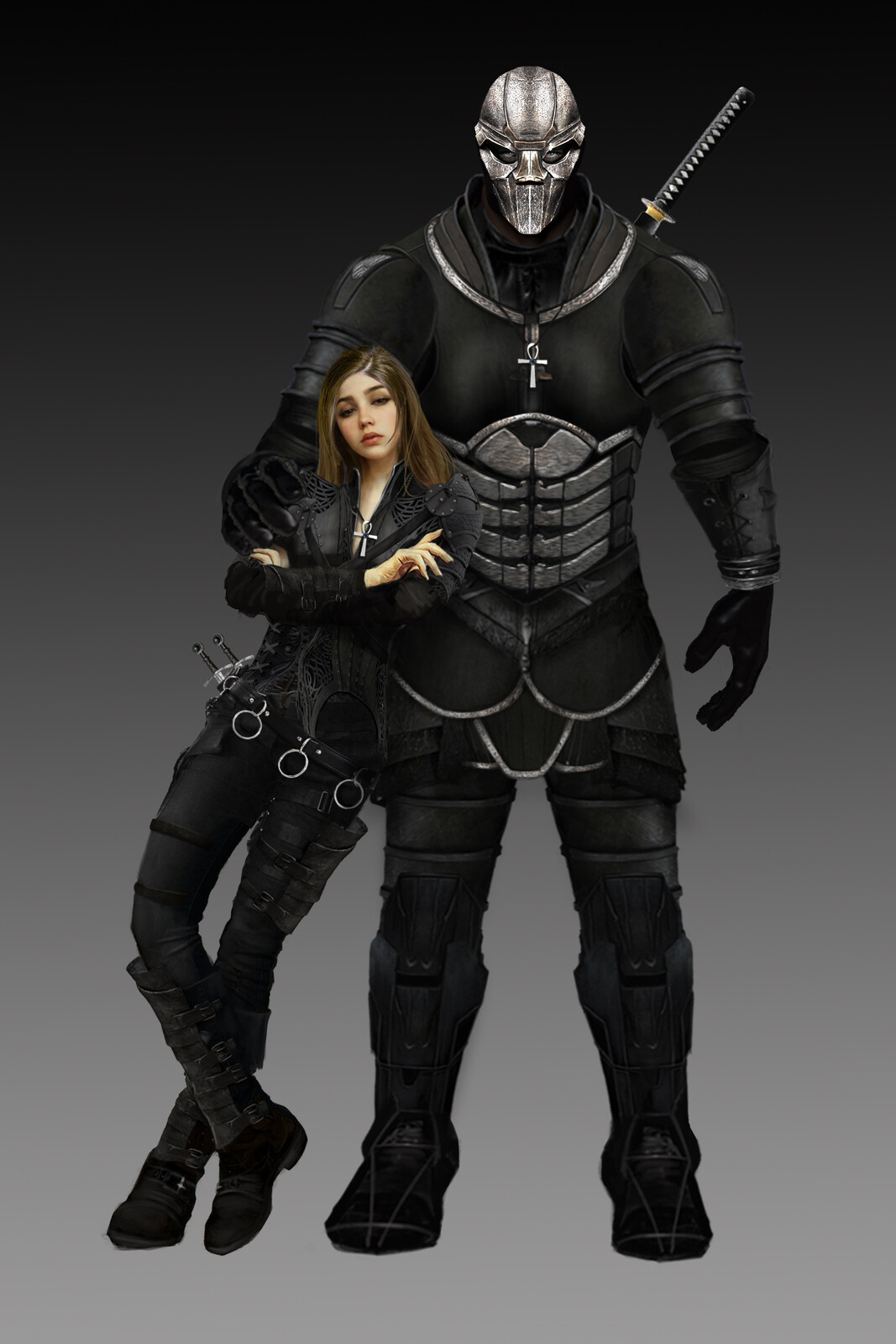CHIANA & TALON (CHARACTER DESIGN FOR UPCOMING PROJECT)