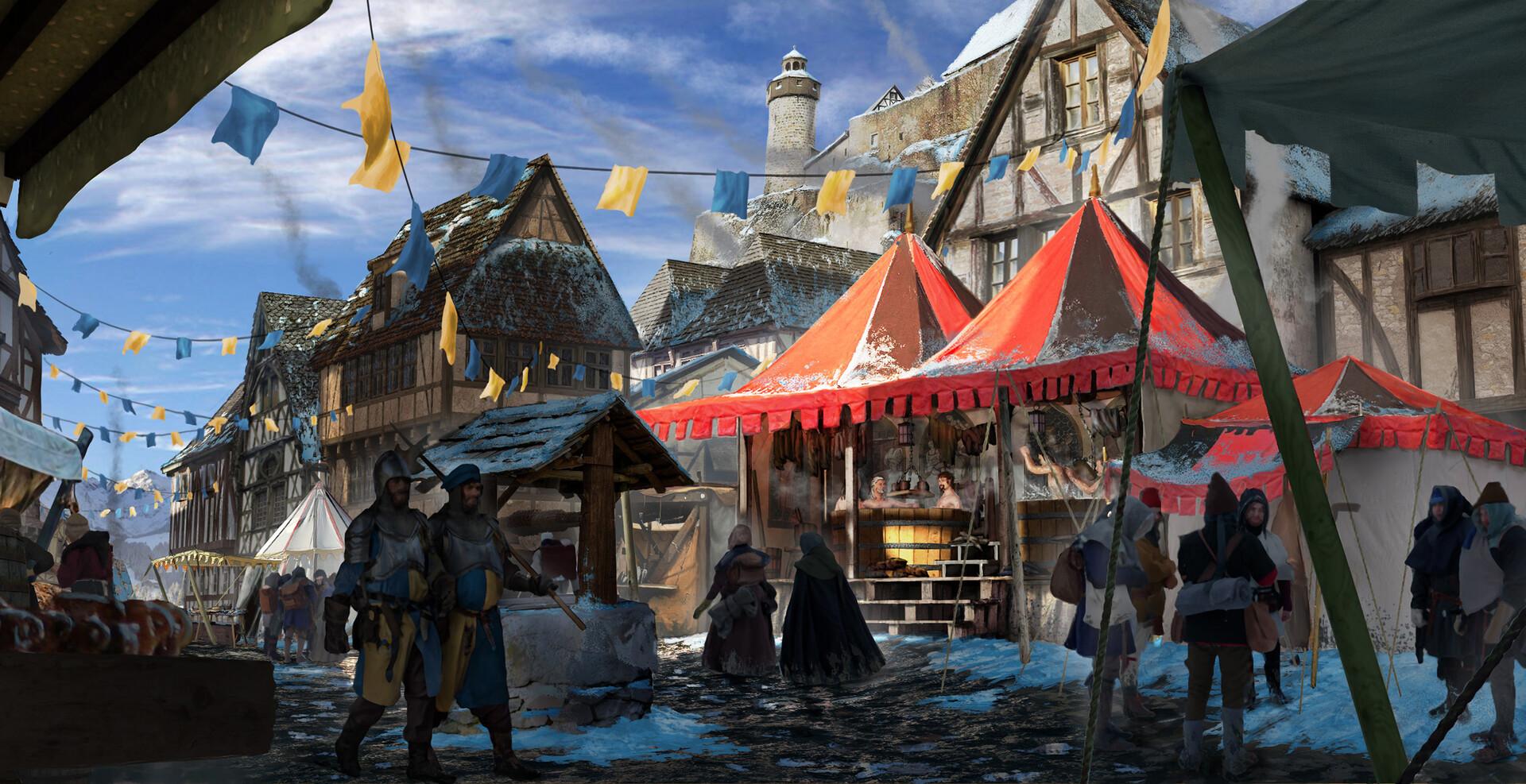 Francis goeltner medievalfantasy travelingbathhouse03 wip0x m