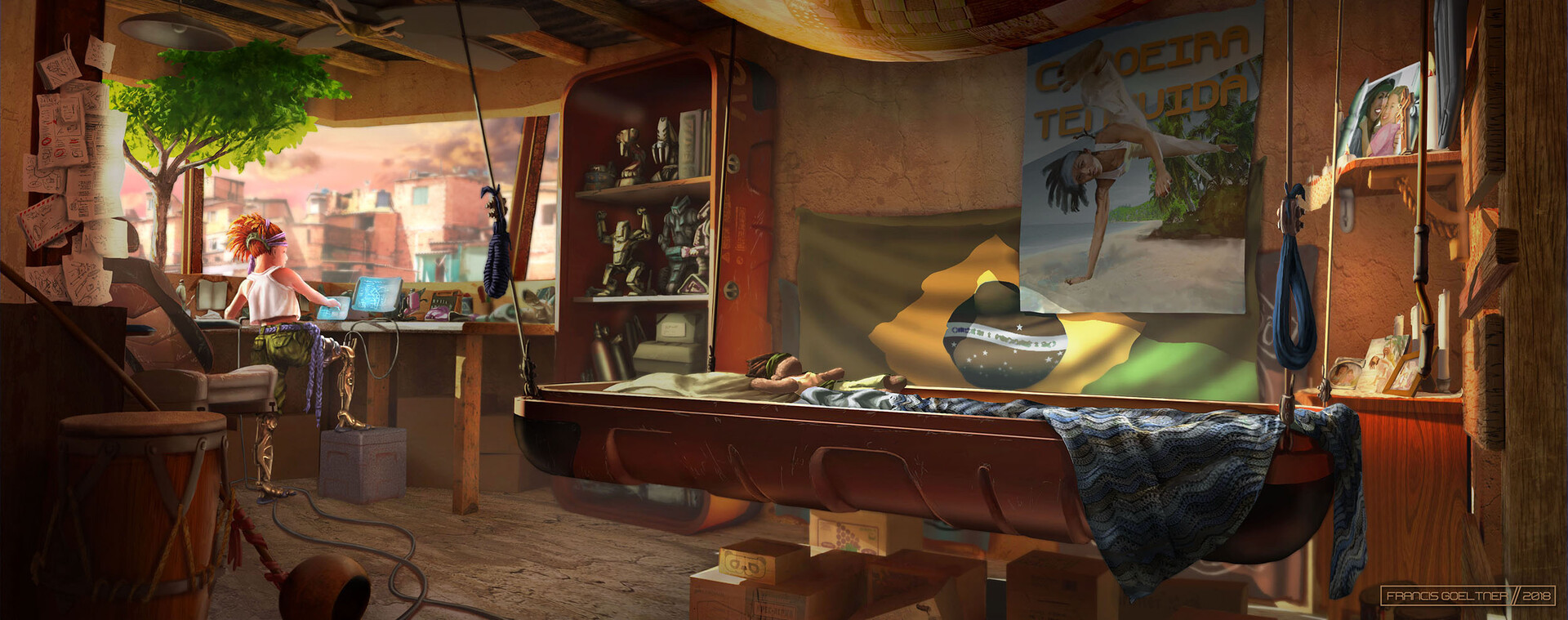 Gael's Home - Bedroom Interior Sunset