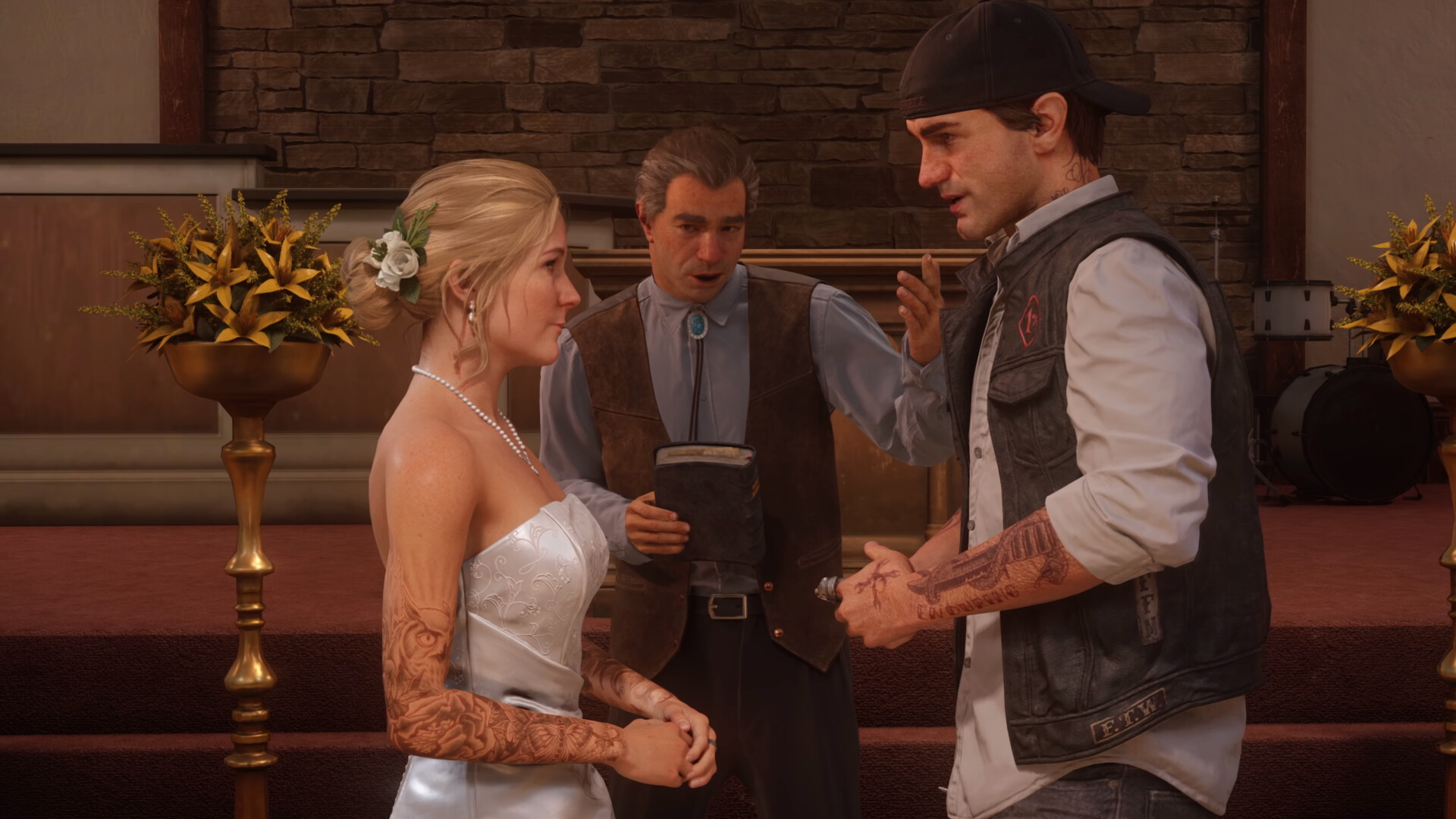 Dustin brown days gone sarah deacon s wedding ps4 0 56 screenshot