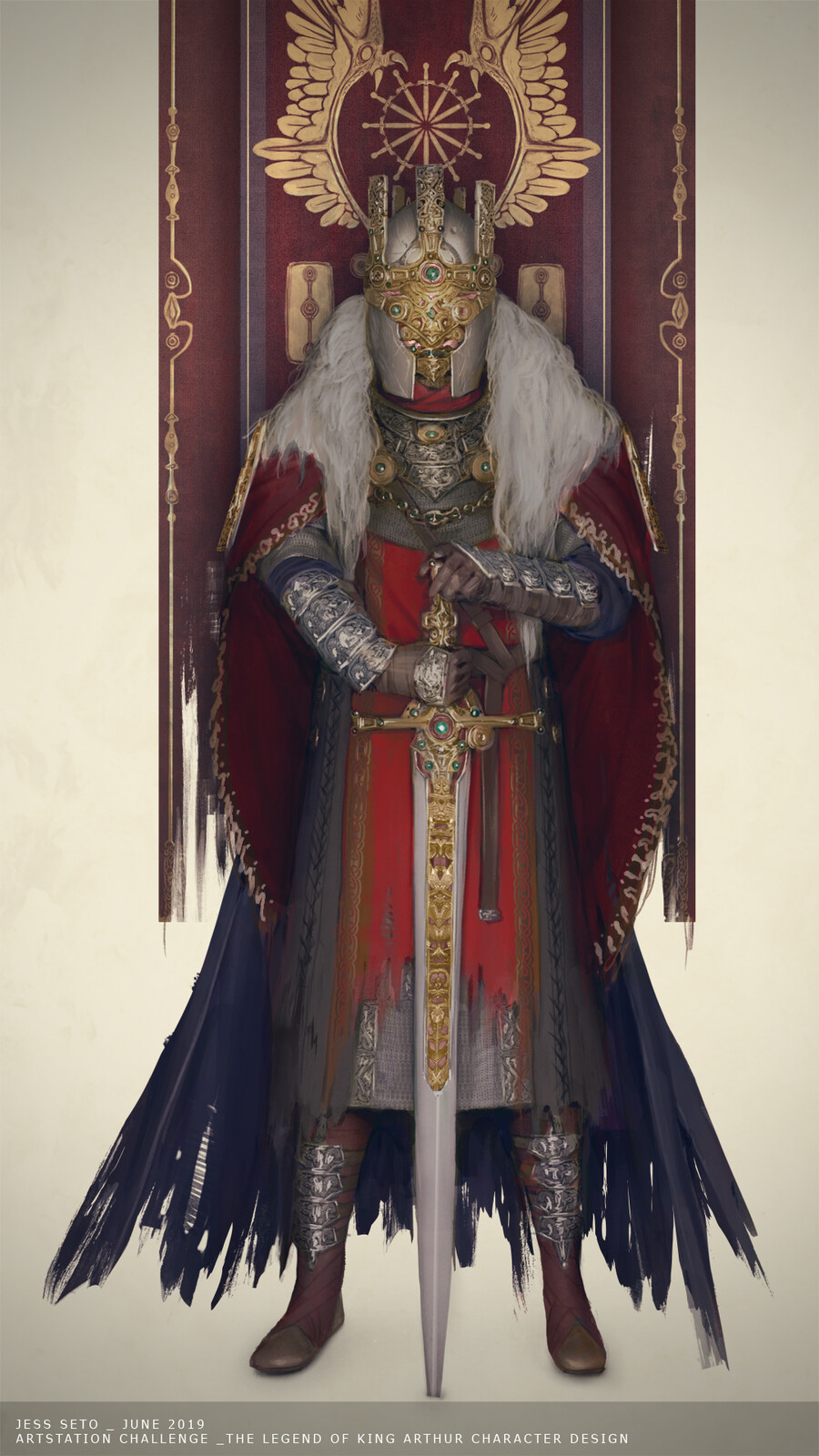 Artstation Challenge The Legend of King Arthur: King Arthur Pendragon