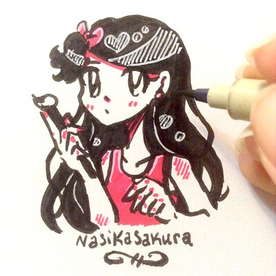 Nasika sakura brush pen 2019 with hand
