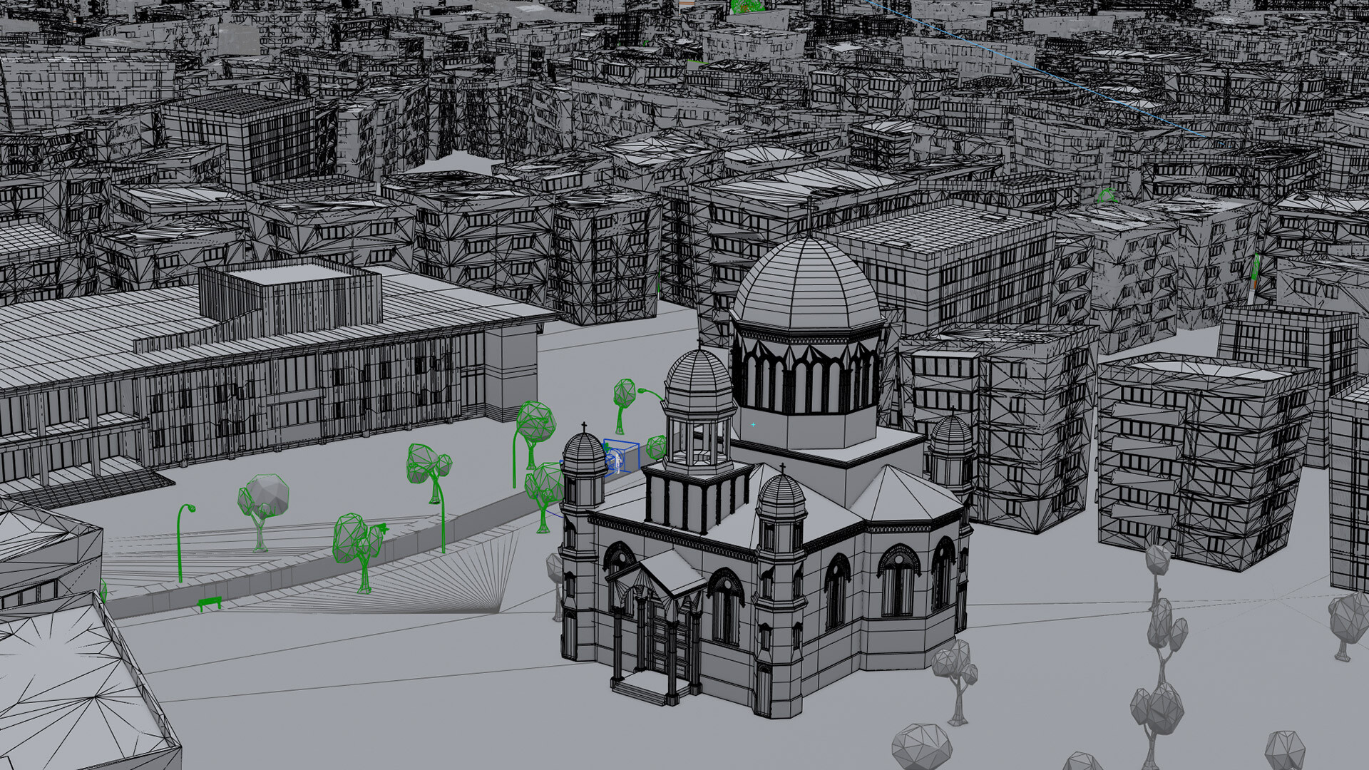 Wireframe of the city