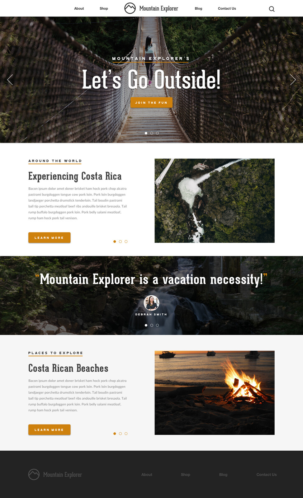 Mountain Explorer Homepage
