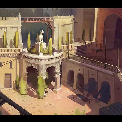 Arabian/ Indian amalgamation inspired market place