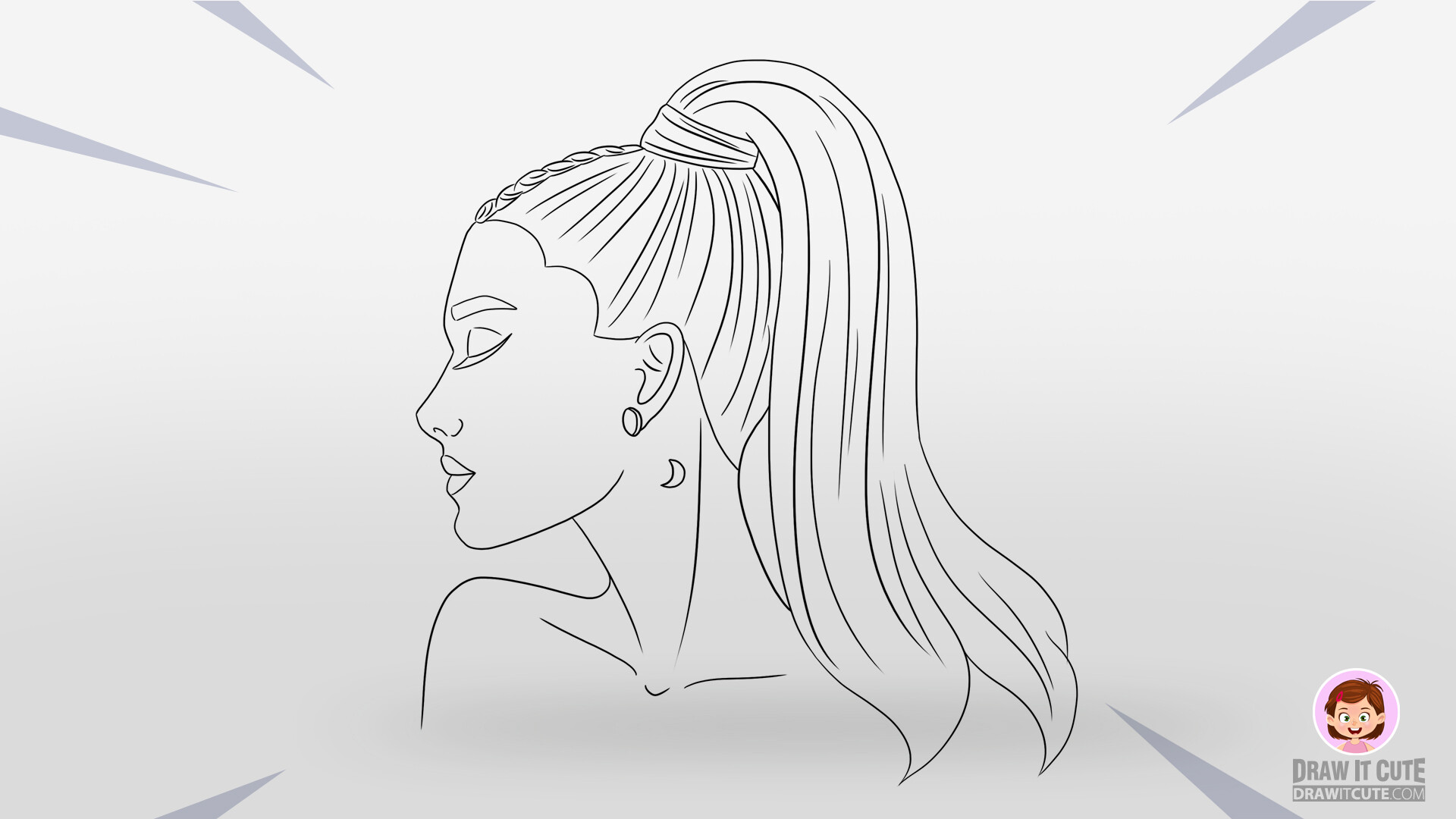 How to draw ariana grande step by step guide