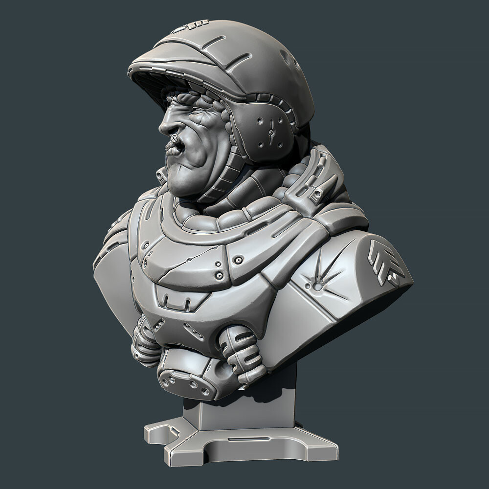 David ostman sarge bust 03
