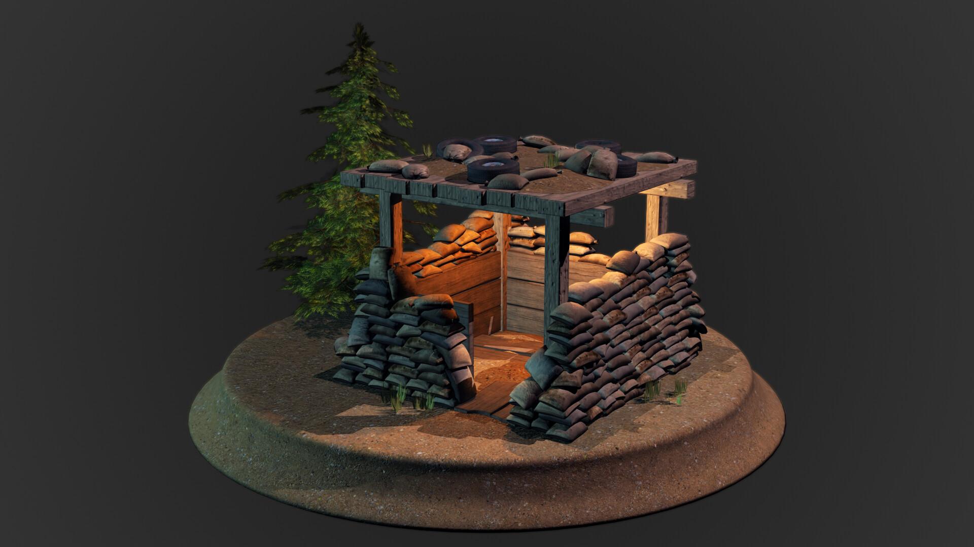 Jordan cameron sandbag bunker 1