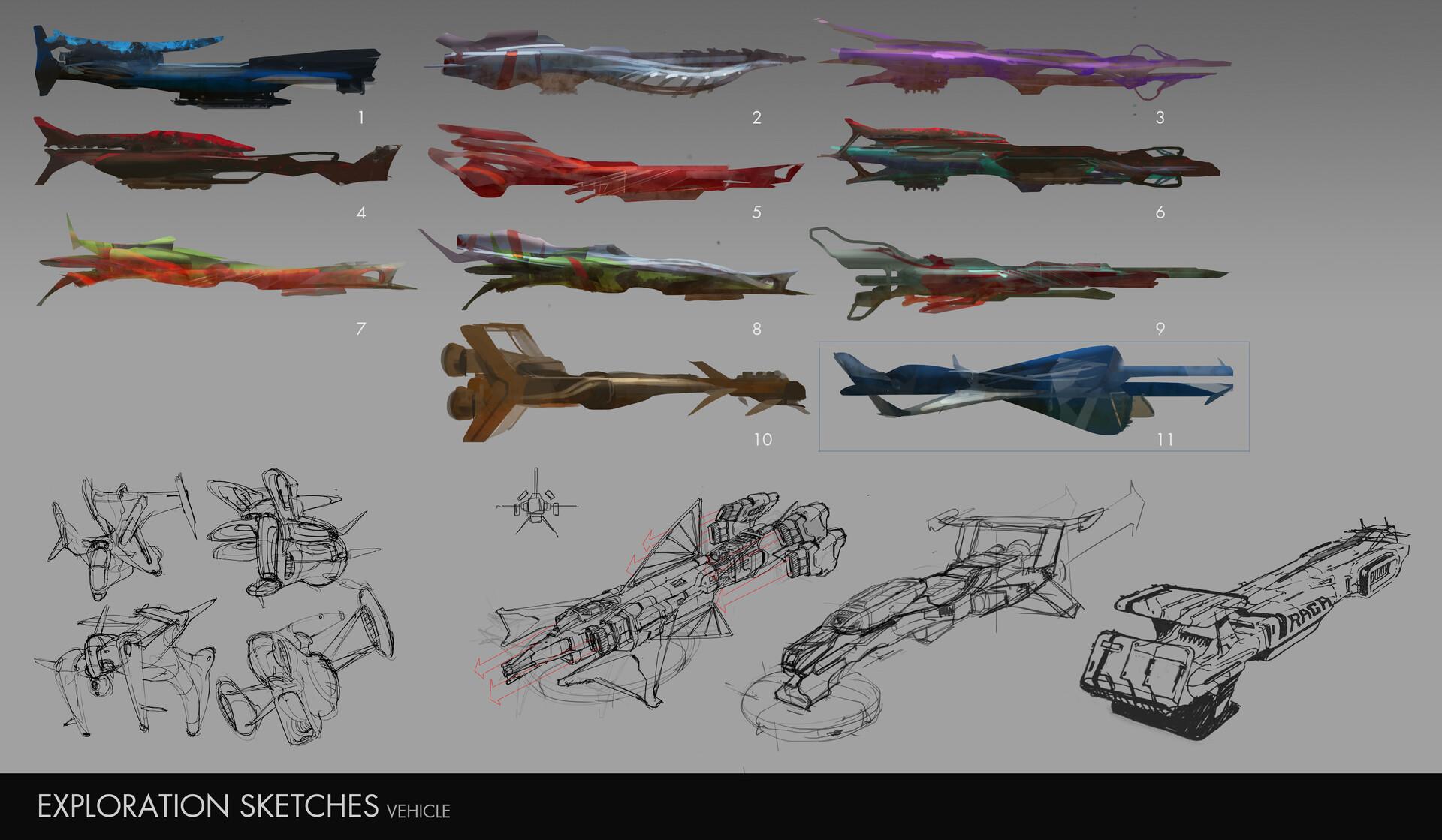 Gia nguyen 3 vehicle sketches