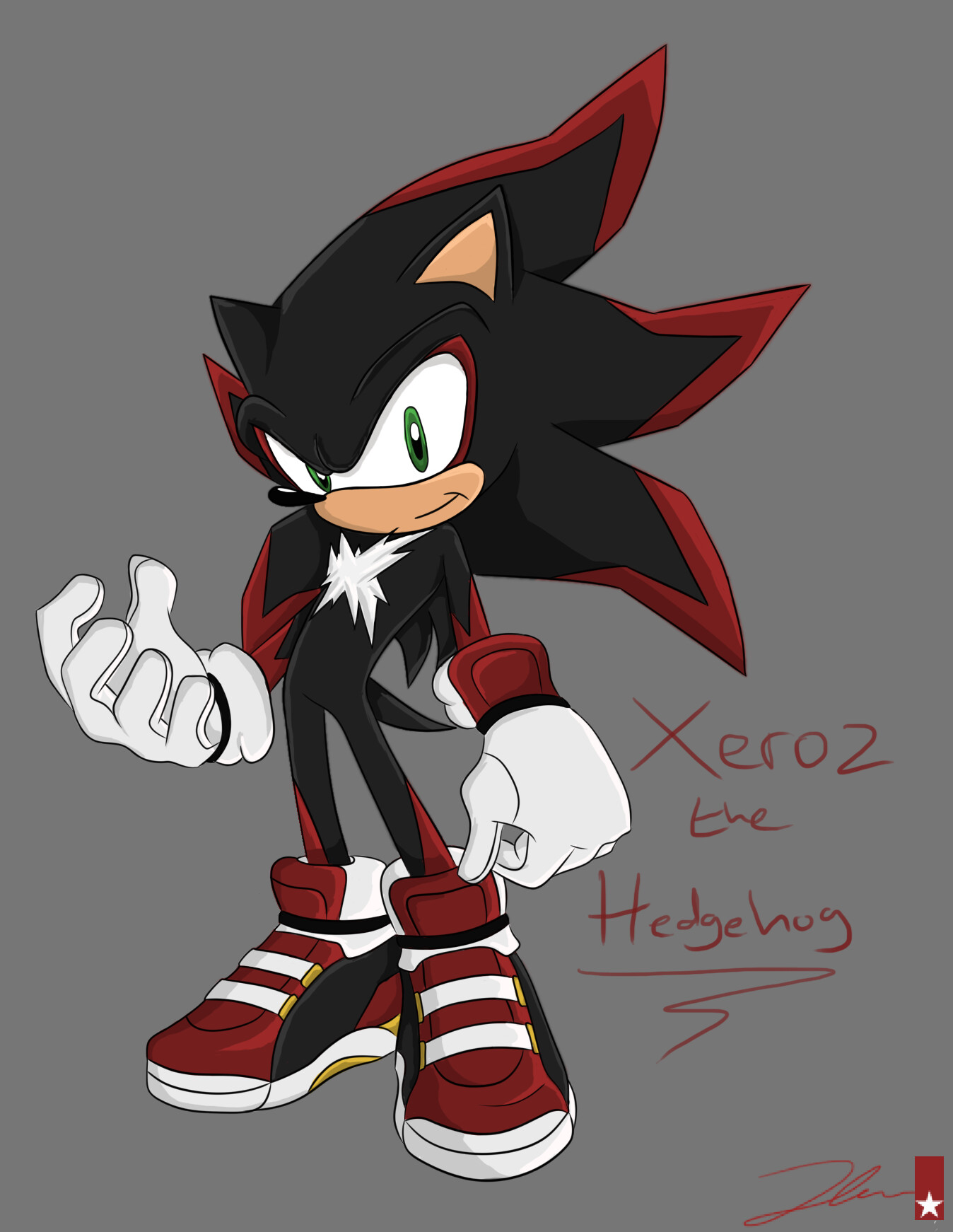 Artstation Xeroz The Hedgehog Sonic Oc James Harris