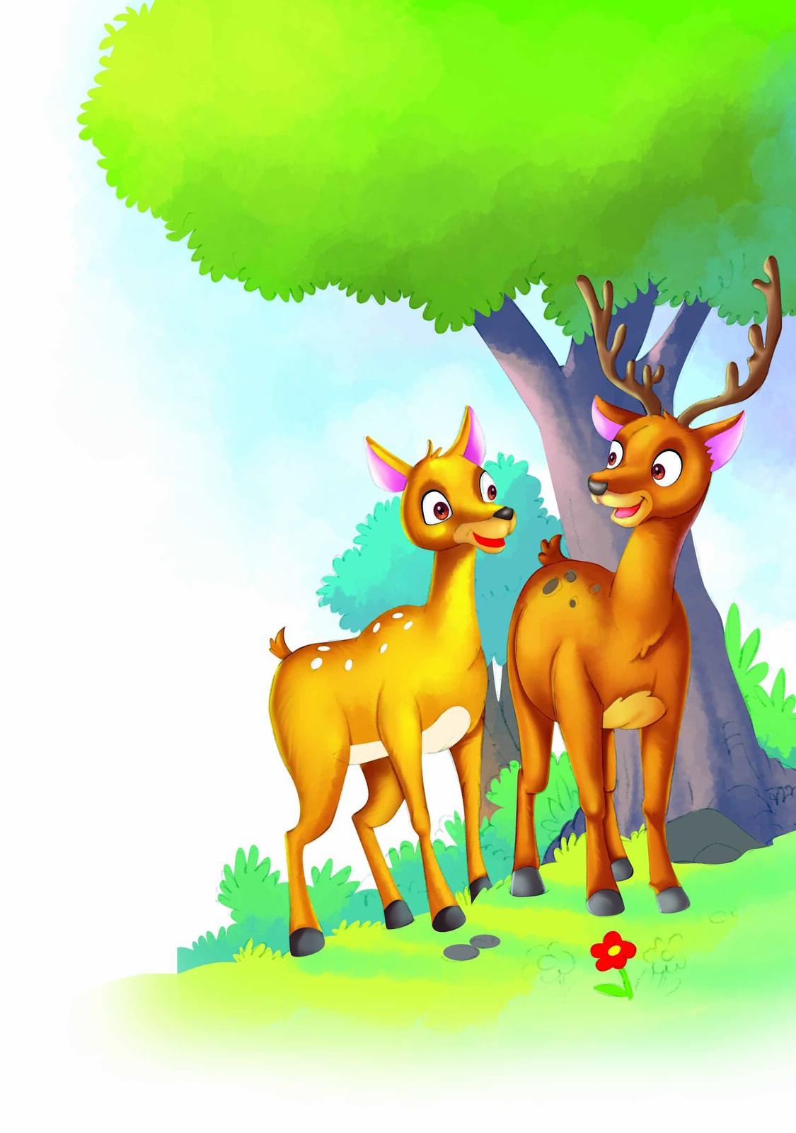 Two Golden Deers...