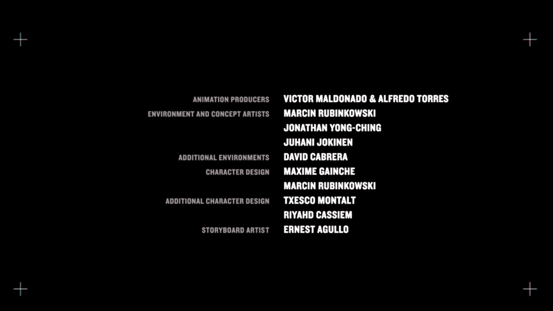 love death and robots - three robots credits