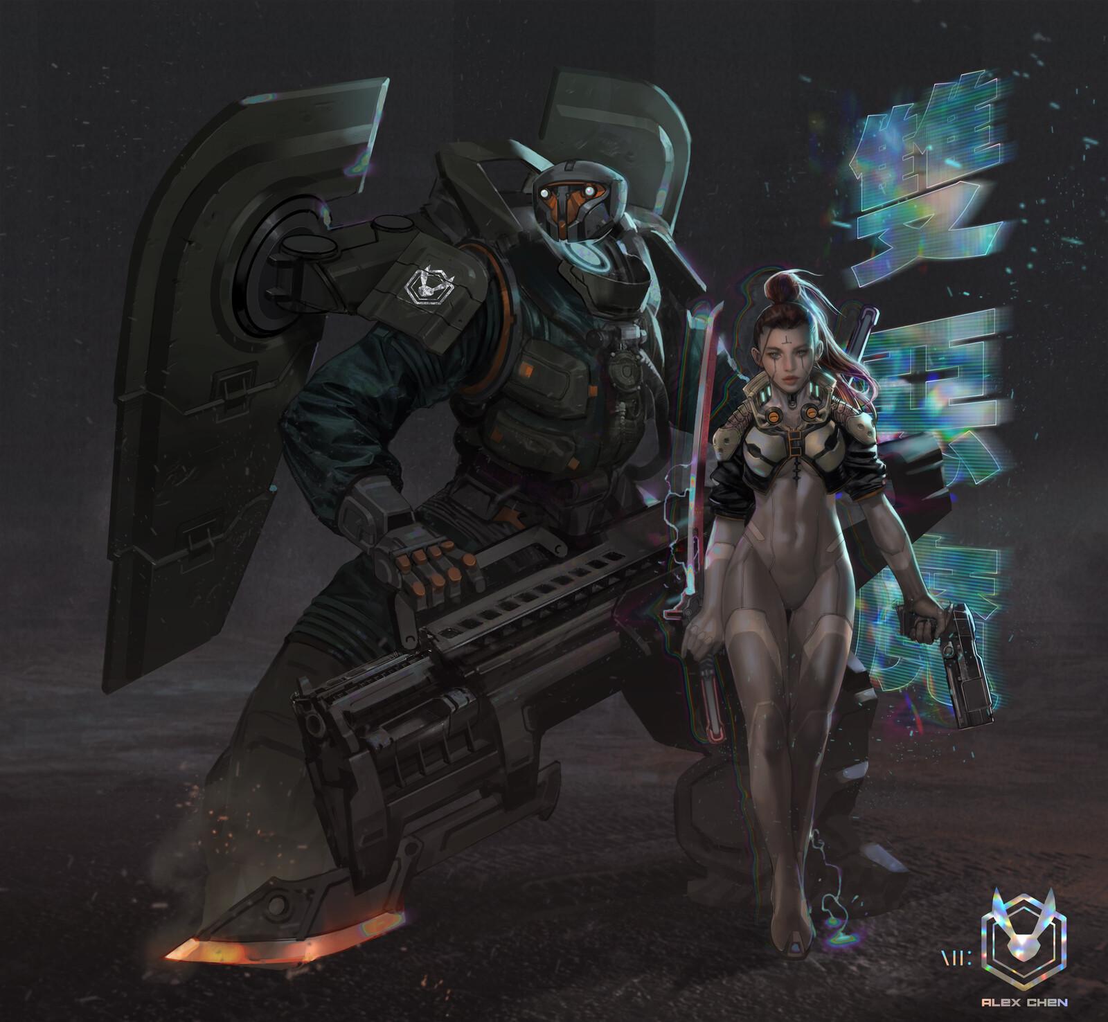 Tortoise and Hare - Cyberpunk 2077 fanart