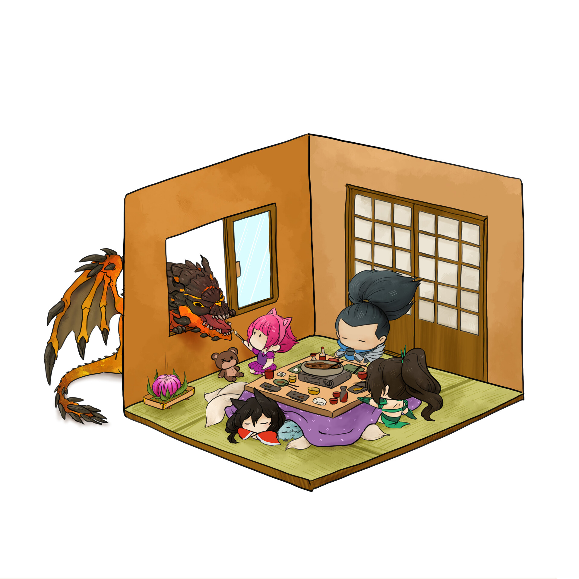 Leslie kam lol rooms 3 kotatsu