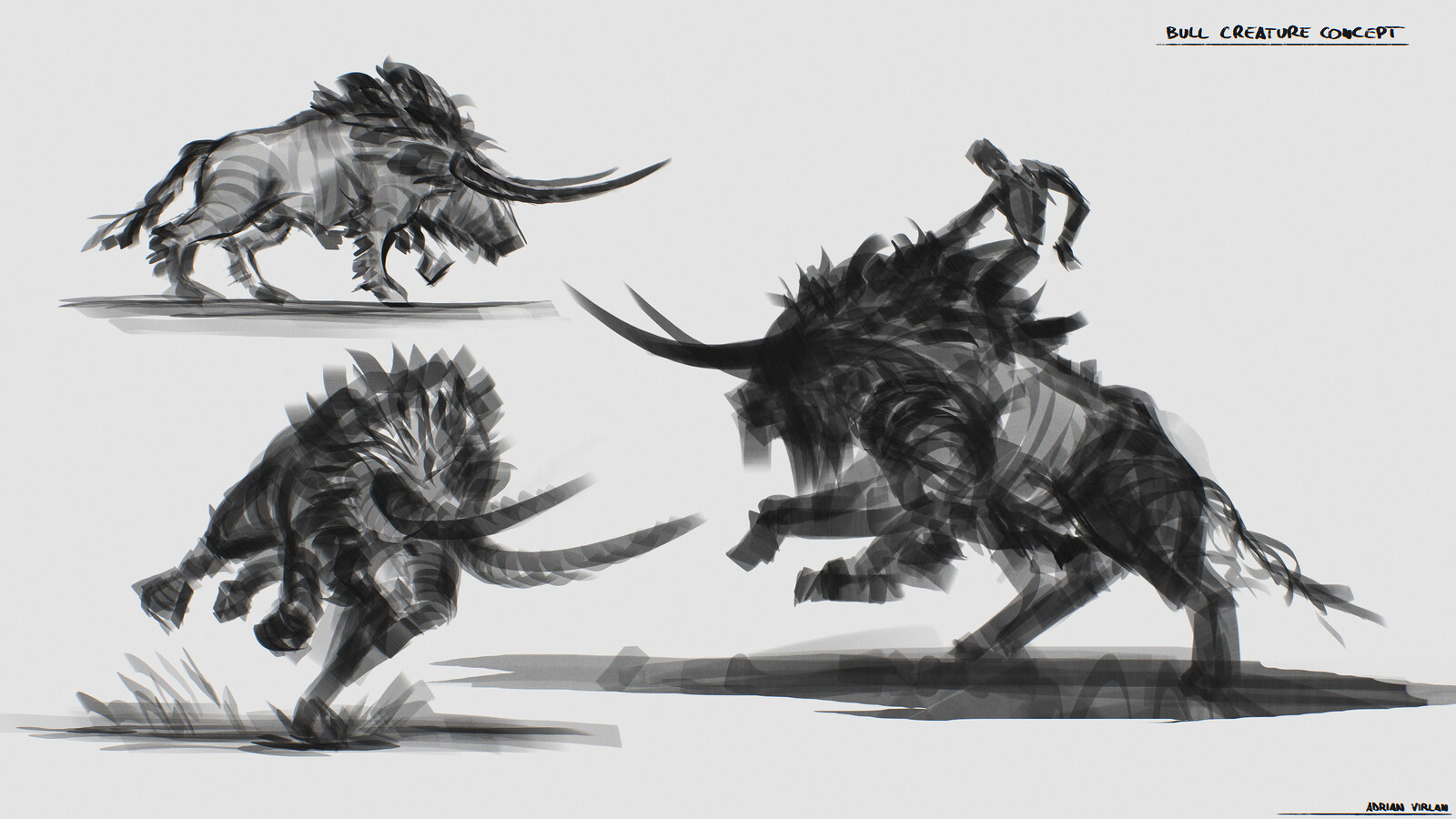 Bull creature concept