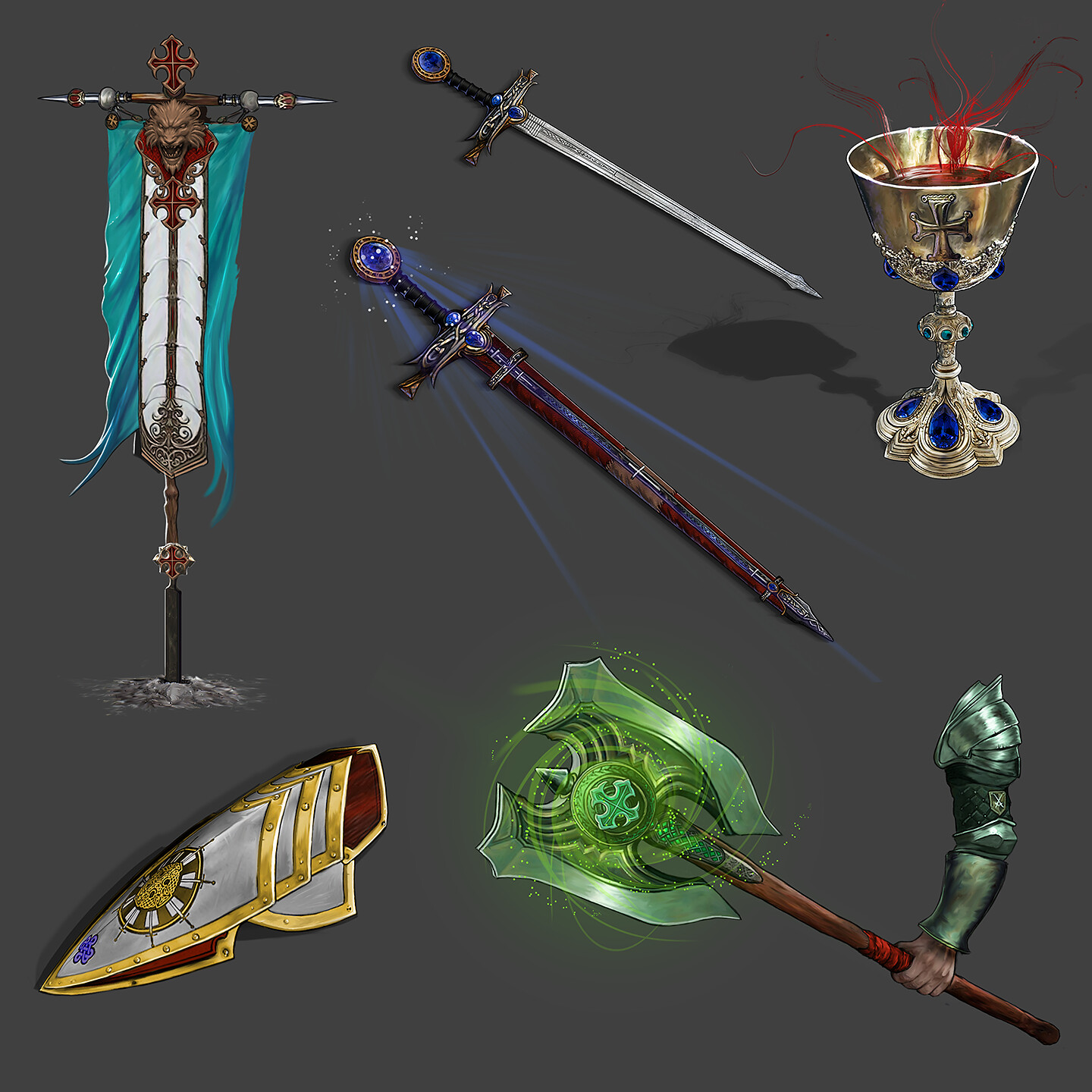 All 5 props rendered