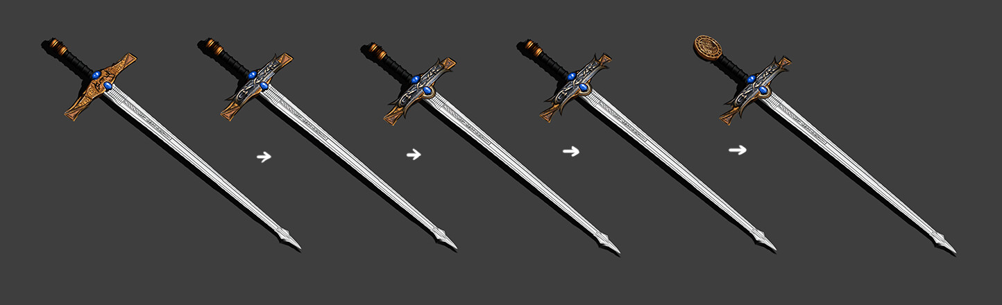 Sword, work in progress shots.