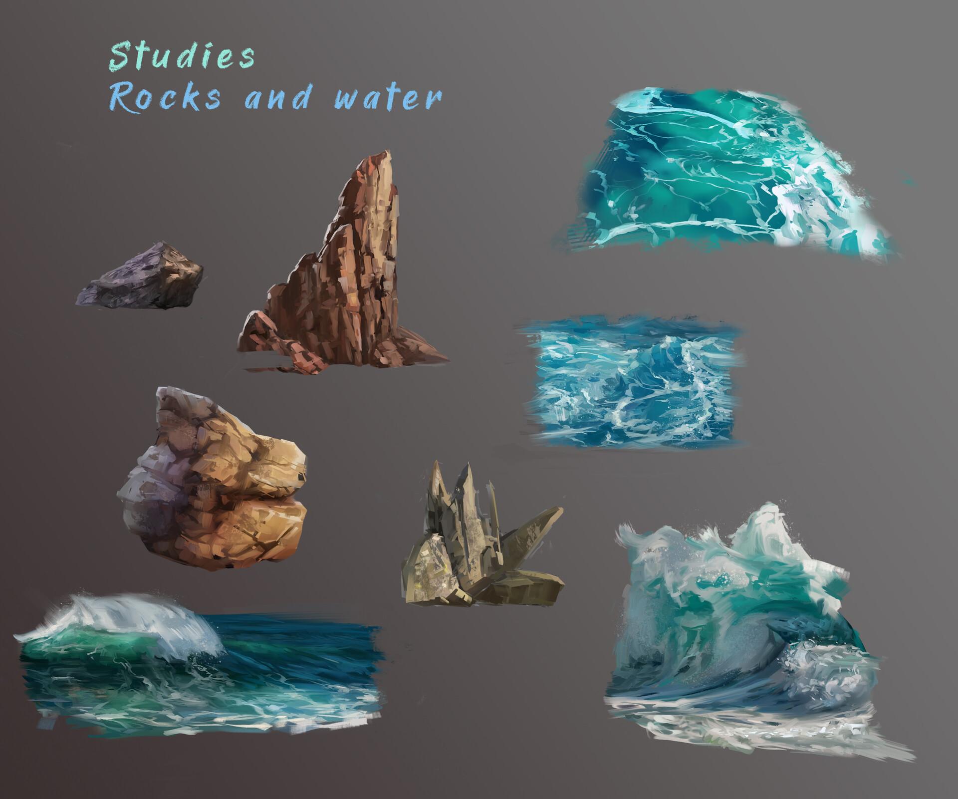 Mj venegas spadafora studies rocks and water
