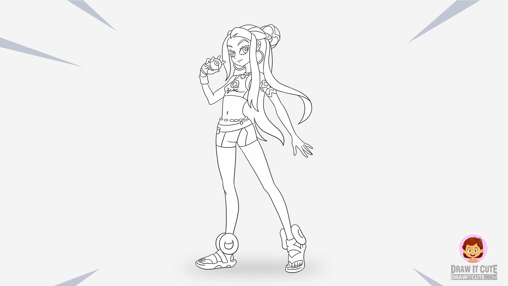 Artstation How To Draw Pokemon Nessa Gym Leader Super Easy With