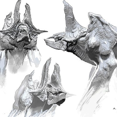 Aaron mcbride mega kaiju v2 mouth closed sketches amcb