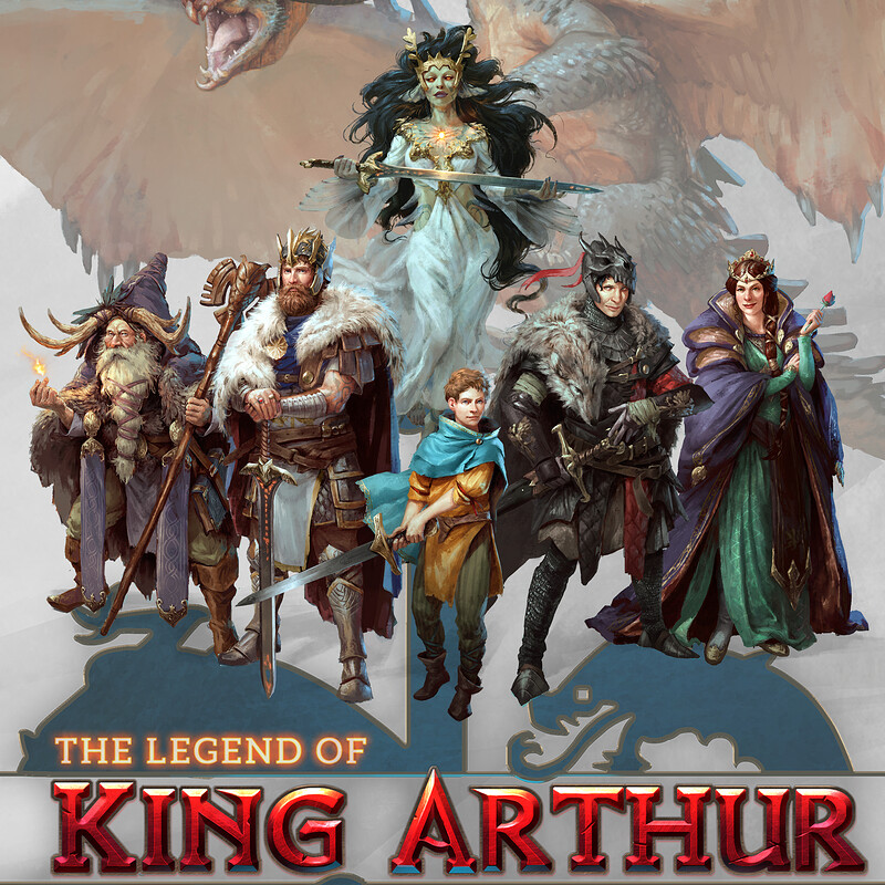 The Legend of King Arthur - character designs
